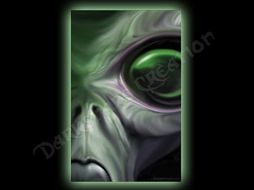 Extraterrestrial Life - Alien Eye - Original Art Print