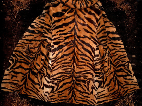 Beautiful Antique Tiger Stripe - Real Hair - Exotic Autumn Coat