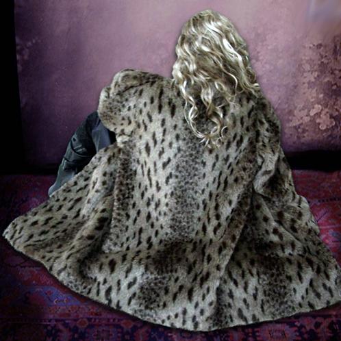 Fabulous Vintage Snow Leopard Coat