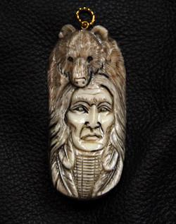 Bison bone pendant