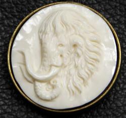 Bison bone inlay pendant
