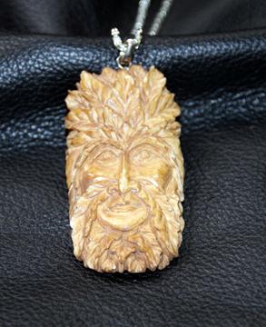 Elk bone pendant