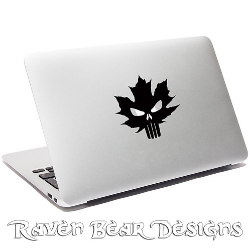 Canadian Punisher - Laptop or Car Decal
