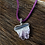 Thumbnail: Natural Amethyst Geode Slice Pendant