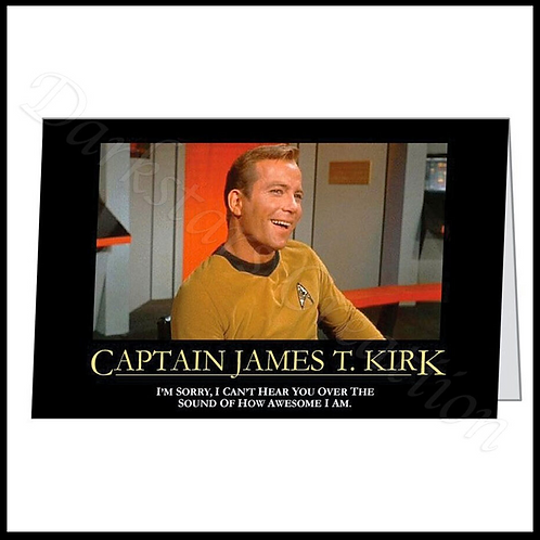 Captain Kirk Shat Happens - Fun Star Trek Fan Birthday Card