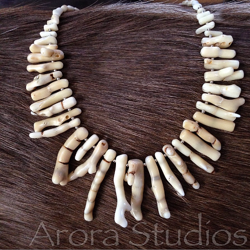 Natural Ocean Coral Necklace - Antler Coral - Exotic Spiritual Jewelry