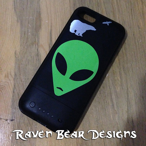 Alien Head - Cell Phone, Laptop or Car Decal