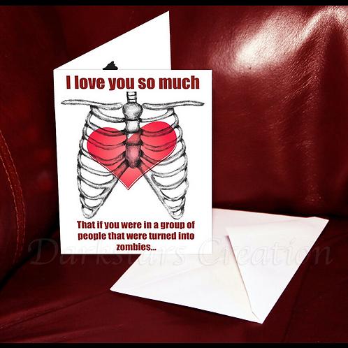 Zombie Love - Fun Walking Dead Fan, Funny Friendship or Awesome Anniversary Card