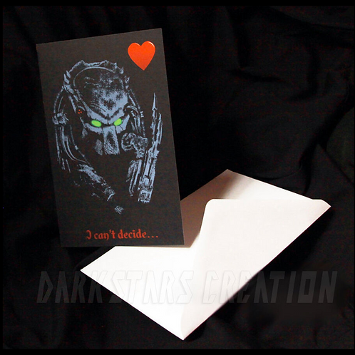 Predator Love - Fun & Funny Friendship Card or Awesome AVP Anniversary Card!