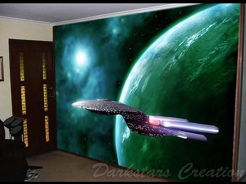 "Enterprise D - Star Trek TNG - ""Gaseous Green"""
