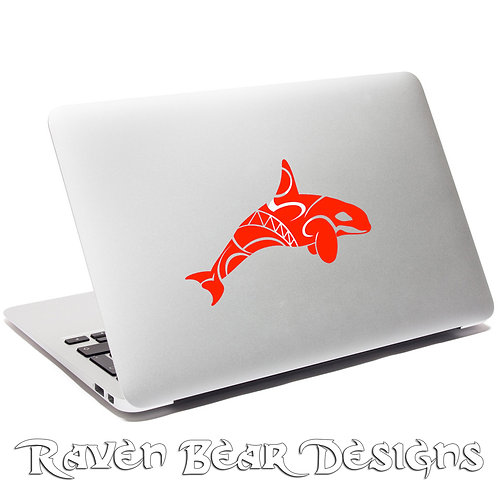 Pilchuck Tribal Whale - Laptop or Car Decal