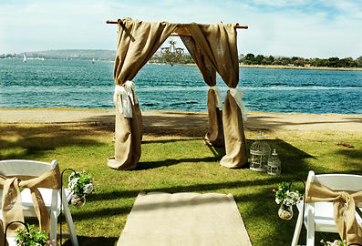 Beach Wedding at Sunset Point in Mission Bay