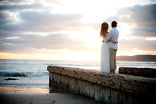 Coronado Beach Wedding at Sunset