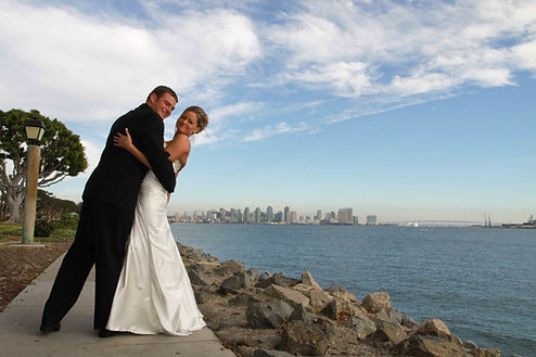 wedding ceremony at harbor island park