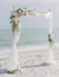 birchwood beach wedding canopy for elope to Coronado