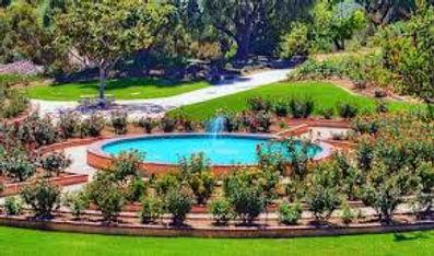 Balboa Park Rose Garden in San Diego California