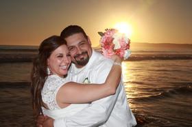 sunset wedding on coronado beach