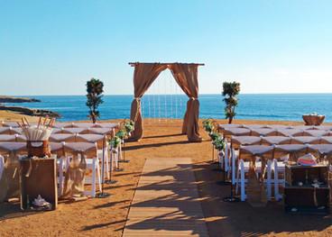 boho vintage wedding at sunset cliffs