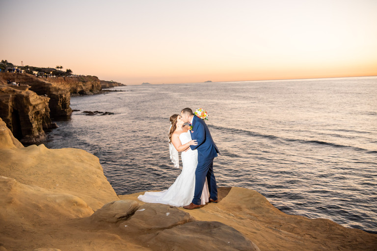 vow renewal at sunset cliffs