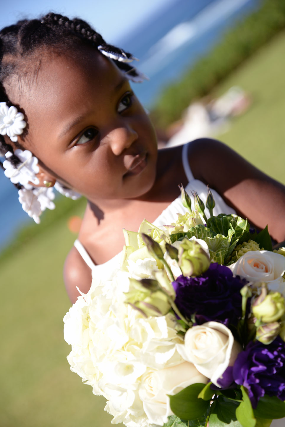 pretty flower girl