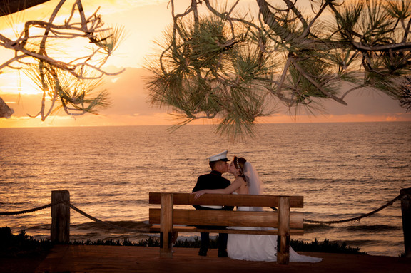sunset vow renewal at seagrove park