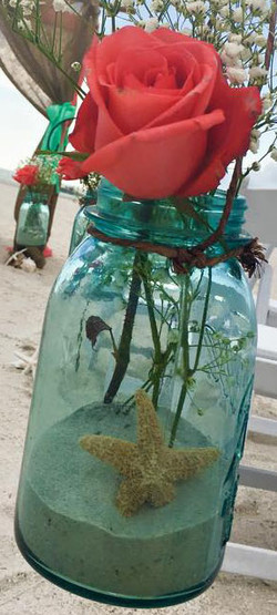Mason Jar Sand & Starfish