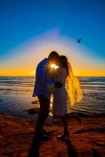 elope to coronado beach at sunset