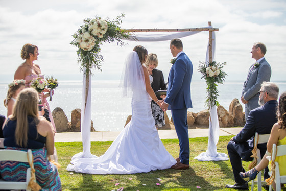 san diego coastal park wedding