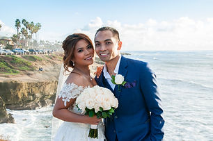 wedding vow renewal at Sunset Cliffs
