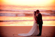 sunset beach wedding at windansea