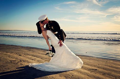 military vow renewal at coronado beach