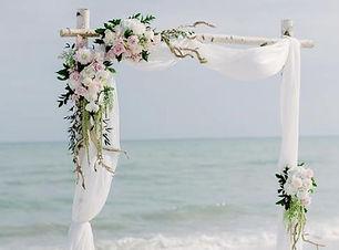 Mission Beach Wedding with Birchwood Arch