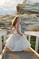 bridal gown at windansea beach