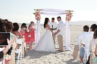beach wedding canopy in coronado