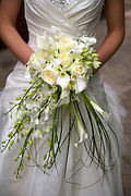 calla lily cascading bouquet