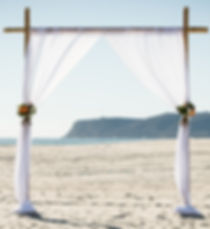 bamboo wedding canopy for elope to San Diego