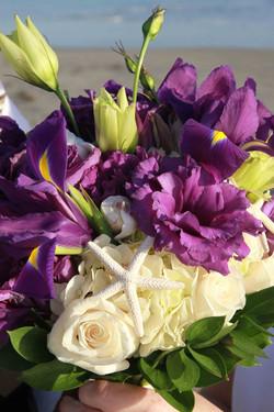 Purple Iris & Starfish
