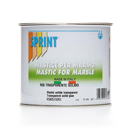 R58 -Mastic solide transparent - Produit SPRINT