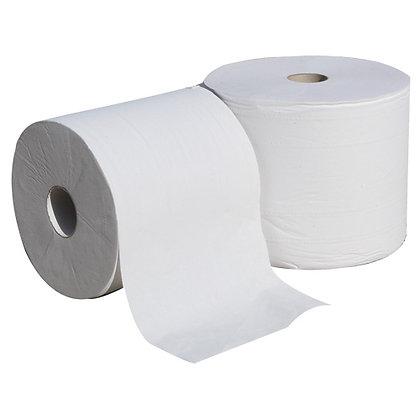 Papier d'essuyage blanc (paquet de 2 rouleaux)