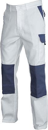 Pantalon de travail Typhon Blanc/Gris