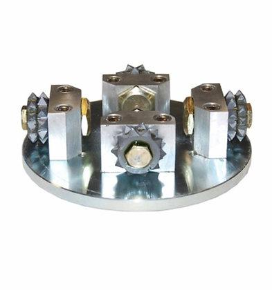 Plateau à boucharder diamètre 150mm 4 molettes