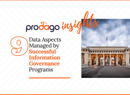 9 data aspects managed by successful Information Governance programs