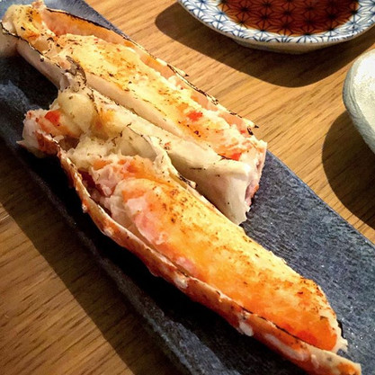 grilded king crab