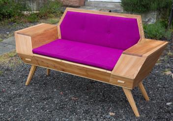 Retro storage bench