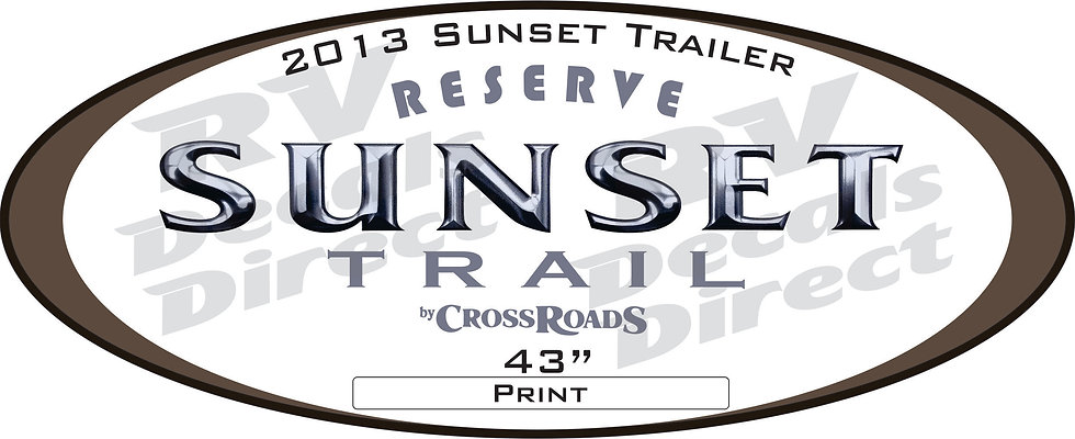 2013 Sunset Trail Travel Trailer