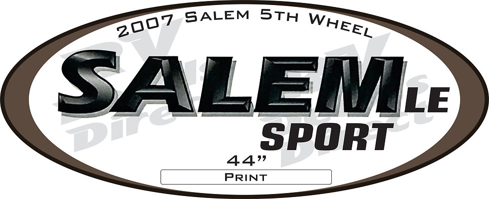 2007 Salem 5th Wheel