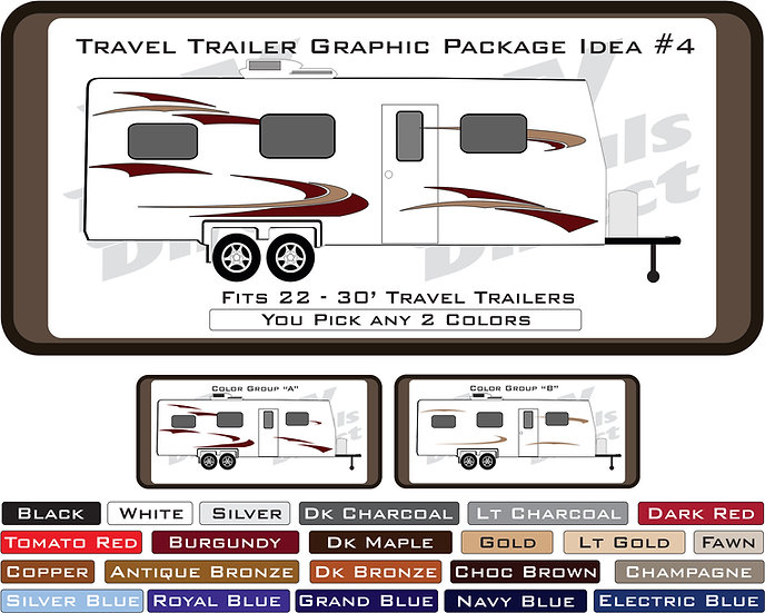 Travel Trailer Graphic Package Idea #4