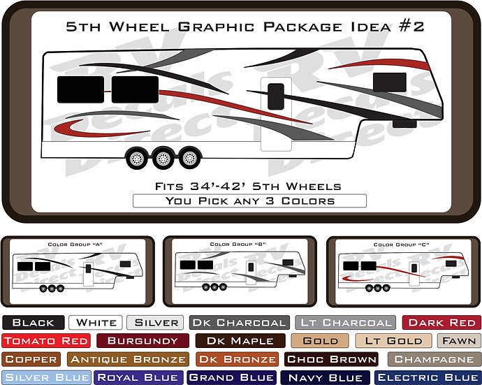 5th Wheel Graphic Package Idea #2