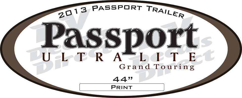 2013 Passport Travel Trailer