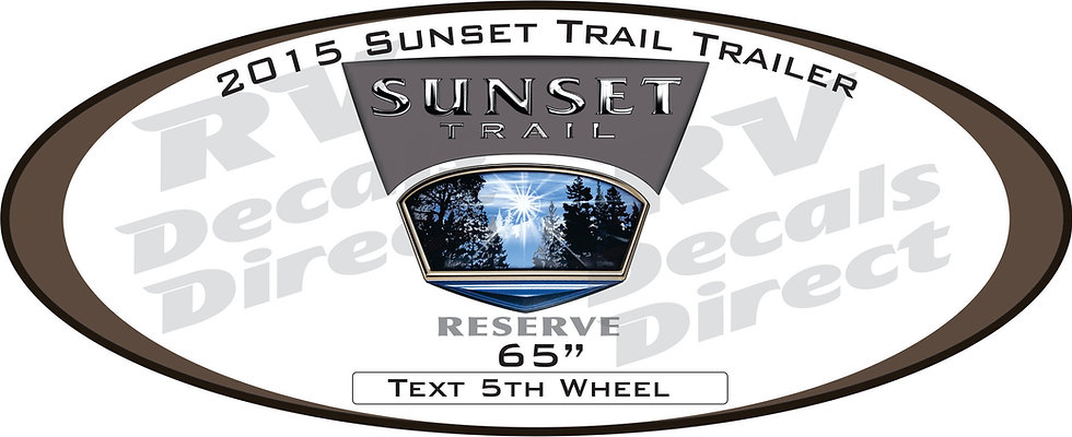 2015 Sunset Trail Travel Trailer
